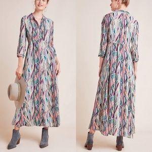 Anthro+ Bl^nk London print maxi dress 3X LIKE NEW